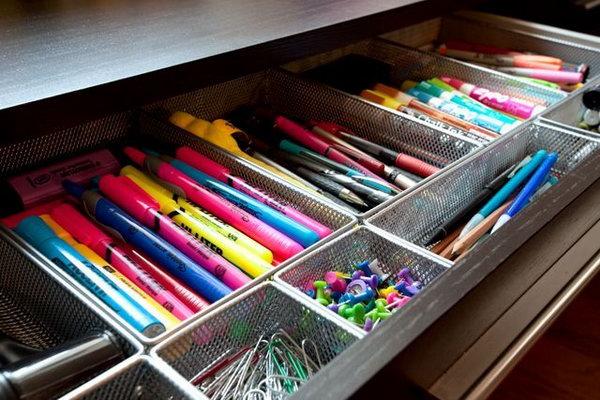 Gaveta organizadores de canetas